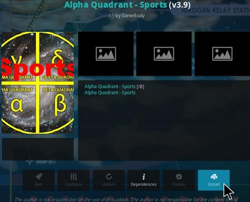 How To Install Alpha Quadrant Kodi Sports Addon V39 Step 19