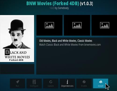 How To Install BNW Black and White Movies Kodi Addon Step 19