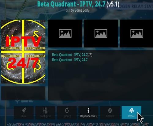 How To Install Beta Quadrant Kodi Addon (IPTV) 2020 Step 19
