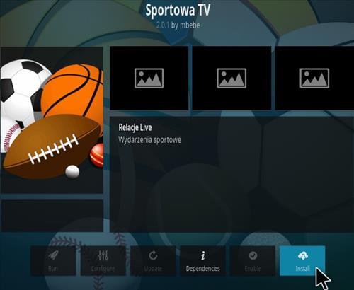 How To Install Sportowa TV Kodi Sports Addon Version 201 Step 18