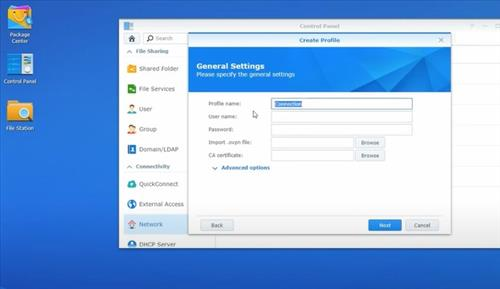 How To Install a VPN on a Synology RT2600AC Router Step 6