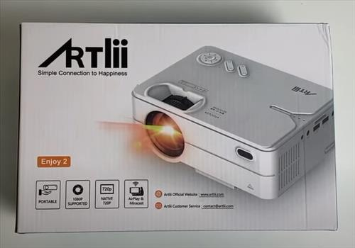 Review ARTLII Enjoy 2 LED 720p Video Projector with WiFi Bluetooth