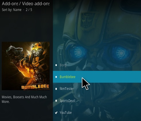 How To Install Bumblebee Kodi Addon 2020 Step 17
