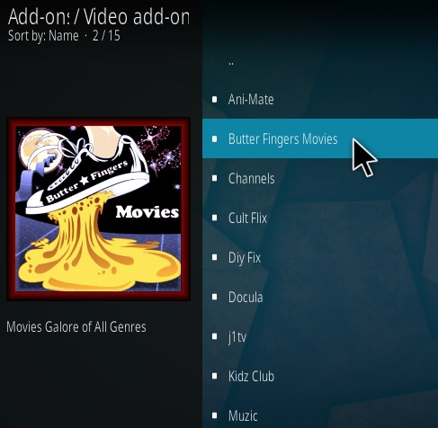 How To Install Butter Fingers Movies Kodi Addon V161 Step 17