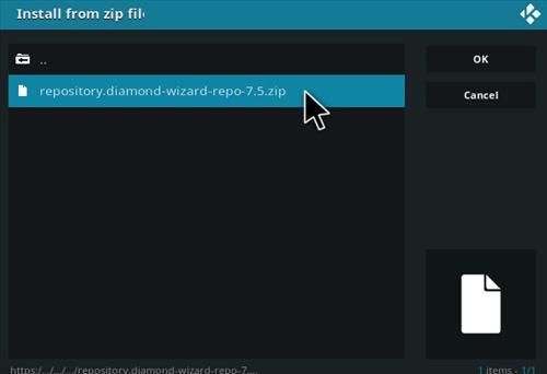 How To Install Diamond Repo Kodi Step 12