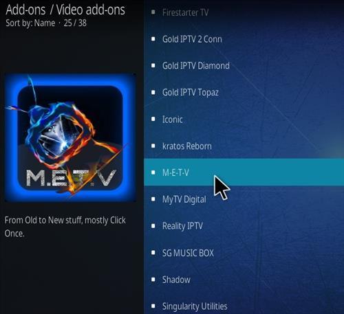 How To Install METV Kodi Addon Step 17