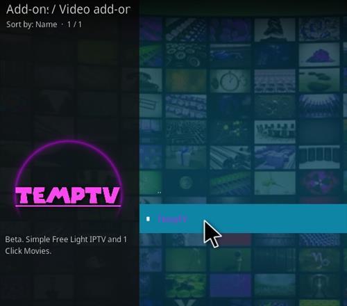 How To Install TEMPTV Kodi Addon Update Ver Step 17
