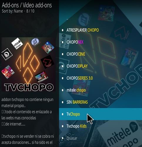 How To Install TV Chopo Kodi Addon Step 18