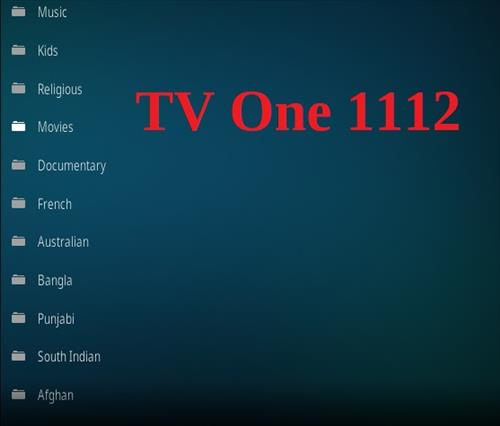 How To Install TV One 1112 Kodi Addon