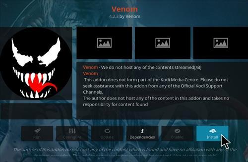 How To Install Venom Kodi Video Addon Version 112 Step 18