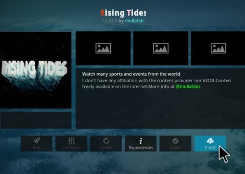 How to Install Rising Tides Kodi Sports Addon Versiion 14223