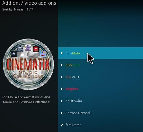 How To Install CineMatix Kodi Addon Step 17