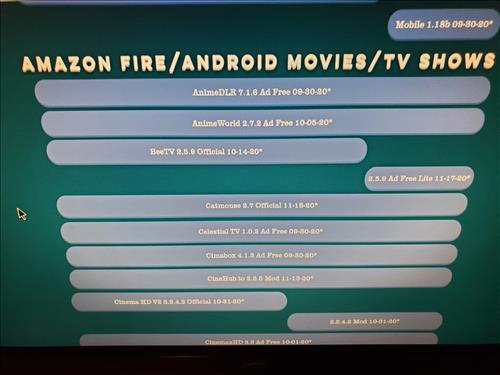 How To Install Cinema HD App (APK) for Android Devices and Fire TV Sticks Step 2