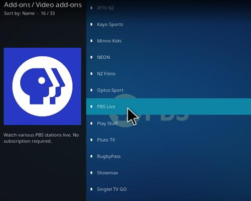 How To Install PBS Live Kodi Addon Step 17