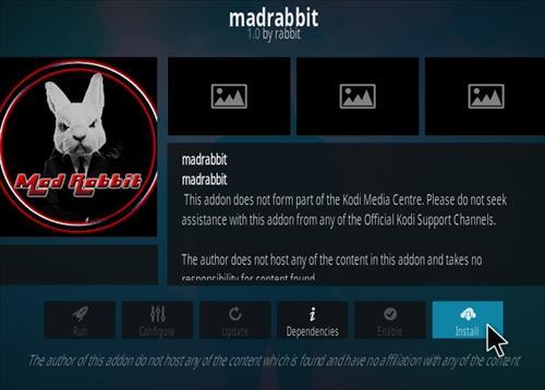 How To Install the Mad Rabbit Kodi Addon Step 18