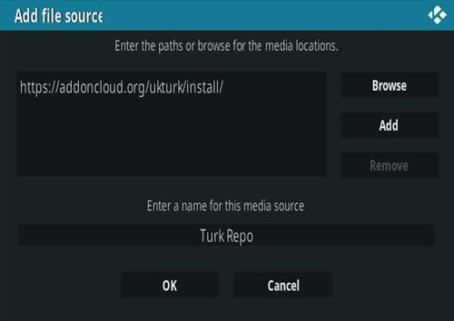 How to Install UK Turk Playlists Kodi Addon 2020 Step 7.1