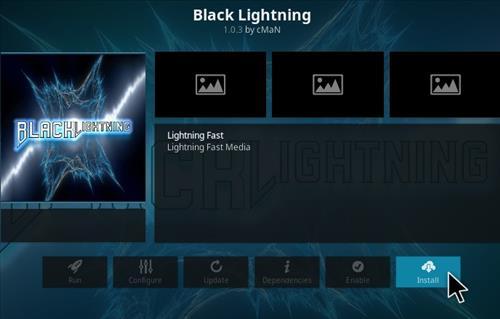 How To Install Black Lightning Kodi Addon Step 18