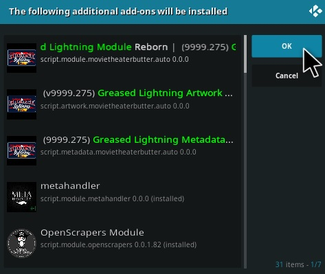 How To Install Grease Lighting Reborn Kodi Addon Step 19