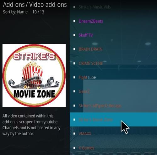 How To Install Strike's Movie Zone Kodi Addon 2021 Step 17