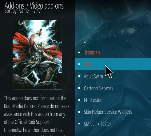 How To Install Thor Kodi Addon Step 17
