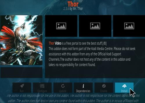 How To Install Thor Kodi Addon Step 18