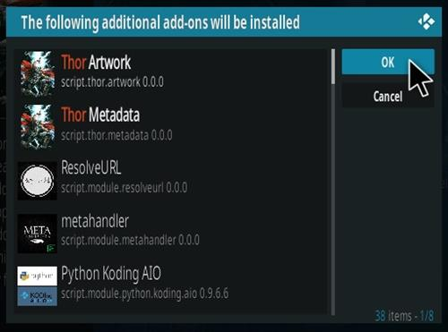 How To Install Thor Kodi Addon Step 19