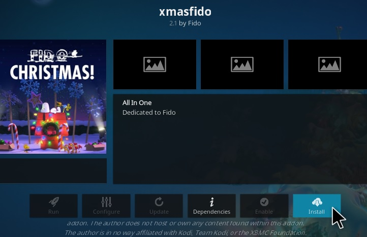 How To Install Xmas Fido Kodi Video Add-on Step 18