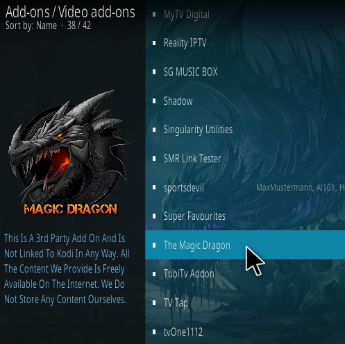 How to Install The Magic Dragon Kodi Add-on 2021 Update Step 17