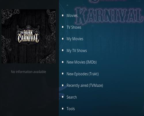 How To Install Dark carnival Kodi addon Overview