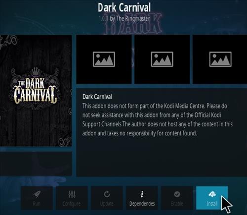 How To Install Dark carnival Kodi addon Step 18