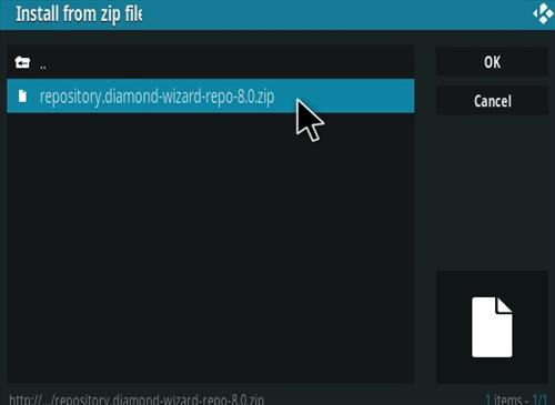 How To Install Diamond Kodi Addon New URL Step 12