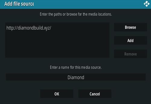 How To Install Diamond Kodi Addon New URL Step 7