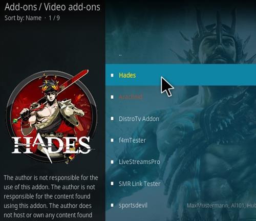 How To Install Hades Kodi Addon Step 17