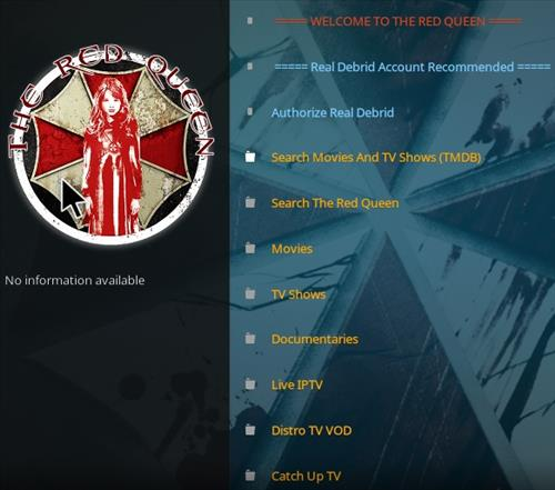 How To Install The Red Queen Kodi Addon 2021 Overview