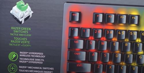 Best Wireless Mechanical Keyboards 2021 Razer BlackWidow V3 Pro Green Switches