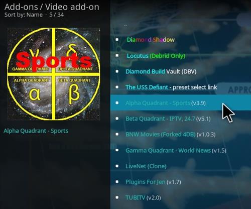 How To Install Alpha Quadrant Kodi Sports Addon 2021 Step 17