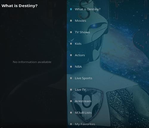 How To Install Destiny Kodi Addon 2021 Overview