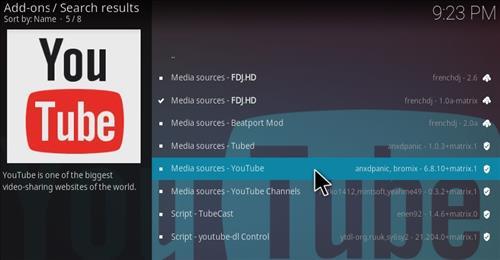 How To Install FDJ.HD Kodi Addon Matrix Youtube 3