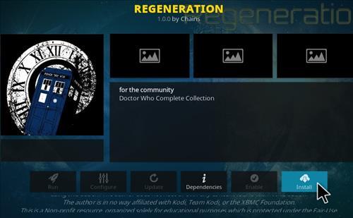 How To Install Regeneration Kodi Addon Step 18