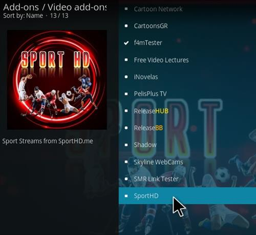 How To Install Sport HD Kodi Addon 2021 Step 17