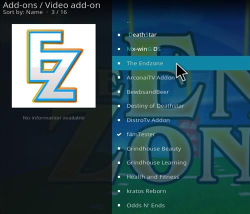 How To Install The End-Zone Kodi Addon 2021 Step 17
