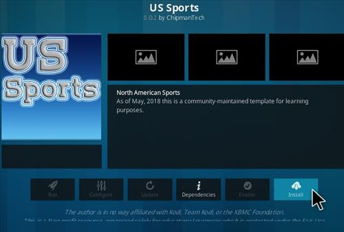How To Install US Sports Kodi Addon Step 18