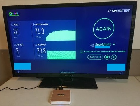 Review MECOOL KM6 Android TV Box Deluxe Edition WiFi Speed Test