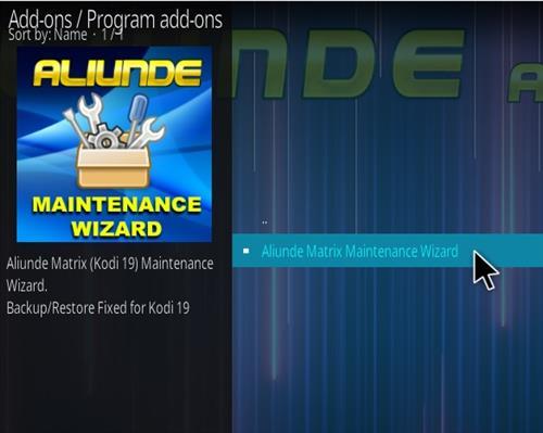 How To Install Aliunde Kodi 19 Maintenance Wizard Step 18