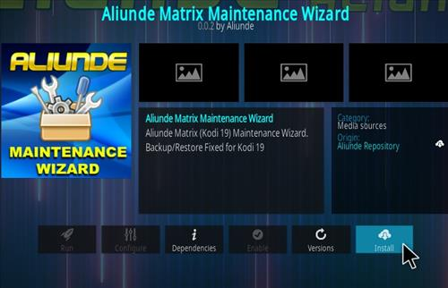 How To Install Aliunde Kodi 19 Maintenance Wizard Step 19