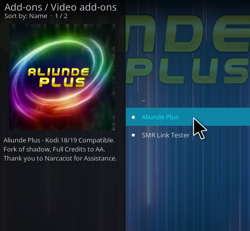 How To Install Aliunde Plus Kodi Add-on Step 17
