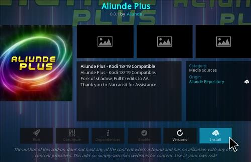 How To Install Aliunde Plus Kodi Add-on Step 18
