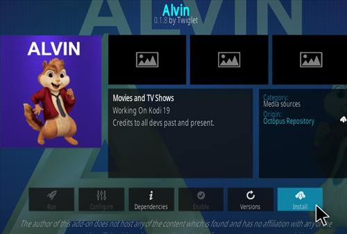 How To Install Alvin Kodi Addon Step 18