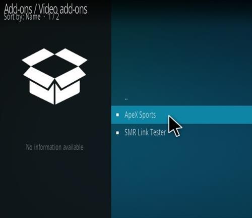 How To Install ApeX Sports Kodi Addon Step 17