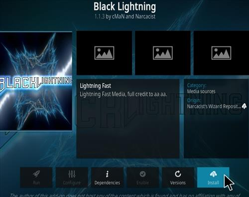 How To Install Black Lightning Kodi 19 Matrix Addon Step 18